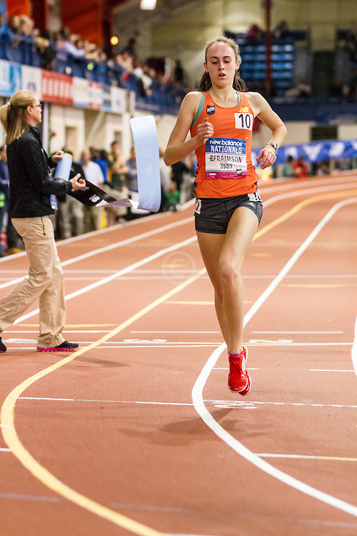 Girl's Championship Mile, won by Alexa Efraimson in new national HS indoor record 4:38.46