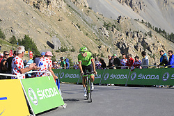 Alberto Bettiol (ITA) Cannondale Drapac climbs Col d'Izoard during Stage 18 of the 104th edition of the Tour de France 2017, running 179.5km from Briancon to the summit of Col d'Izoard, France. 20th July 2017.<br /> Picture: Eoin Clarke | Cyclefile<br /> <br /> All photos usage must carry mandatory copyright credit (© Cyclefile | Eoin Clarke)