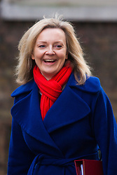 London, March 3rd 2015. Members of the cabinet arrive at 10 Downing Street for their weekly meeting. PICTURED: Elizabeth Truss MP, Secretary of State for Environment, Food and Rural Affairs.