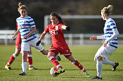 Tatiana Pinto of Bristol City Women closes in on the QPR goal - Mandatory by-line: Paul Knight/JMP - Mobile: 07966 386802 - 14/02/2016 -  FOOTBALL - Stoke Gifford Stadium - Bristol, England -  Bristol Academy Women v QPR Ladies - FA Cup third round