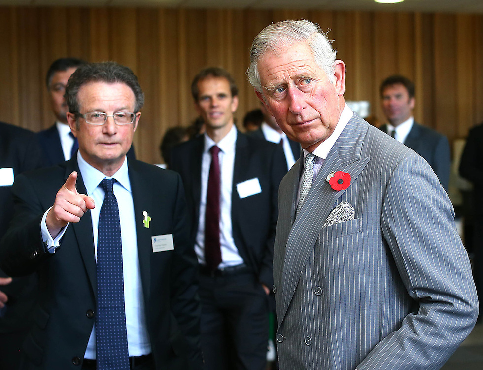 Prince Charles, Prince of Wales Charles Eason Chief Executive at the Cawthron Institute, Nelson, New Zealand, Saturday, November 07, 2015. Credit:SNPA / Shuttersports, Evan Barnes **POOL**