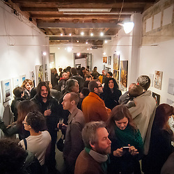 """untitled"" BCN fills the room for an art opening for several local and international artist."