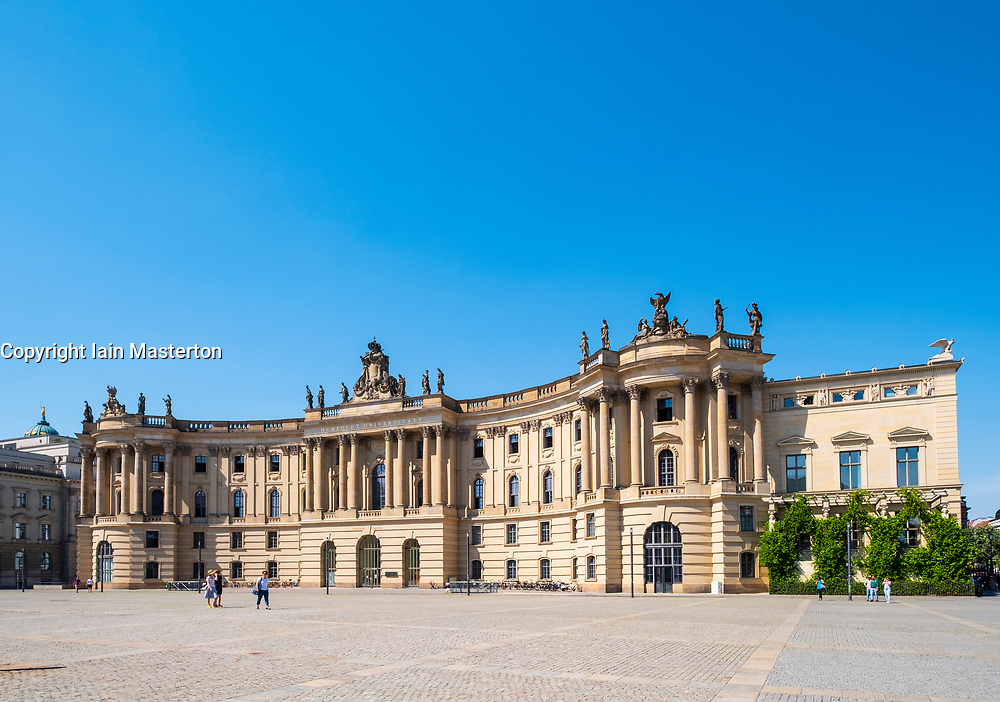 View of Law Faculty of Humboldt University at Babelplatz in Mitte, Berlin, Germany.