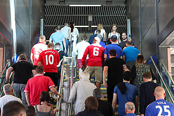 May 19, 2018 - London, England, United Kingdom - Fans leave Wembley Park Station  attend The Emirates FA Cup Final between Chelsea and Manchester United at Wembley Stadium on May 19, 2018 in London, England. (Credit Image: © Alex Cavendish/NurPhoto via ZUMA Press)