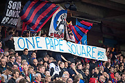 Crystal Palace fans message to Crystal Palace #23 Pape Souare during the EFL Cup match between Crystal Palace and Huddersfield Town at Selhurst Park, London, England on 19 September 2017. Photo by Sebastian Frej.