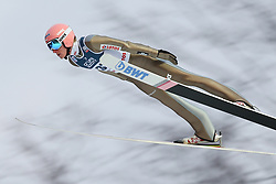 November 19, 2017 - Wisla, Poland - Dawid Kubacki (POL), competes in the individual competition during the FIS Ski Jumping World Cup on November 19, 2017 in Wisla, Poland. (Credit Image: © Foto Olimpik/NurPhoto via ZUMA Press)
