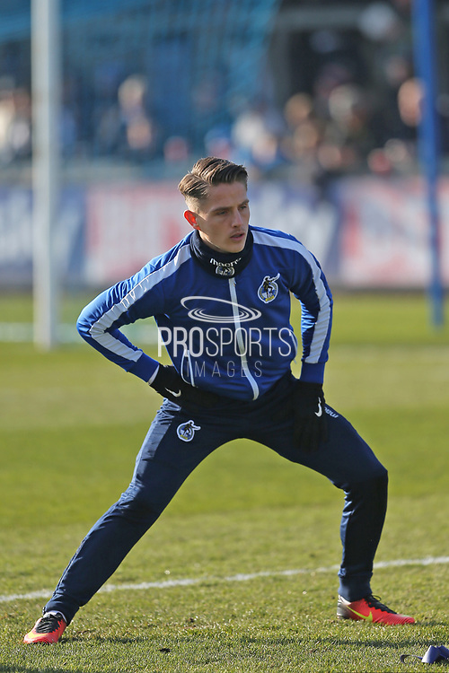 Bristol Rovers Tom Nichols (11) warming up before the EFL Sky Bet League 1 match between Bristol Rovers and Scunthorpe United at the Memorial Stadium, Bristol, England on 24 February 2018. Picture by Gary Learmonth.