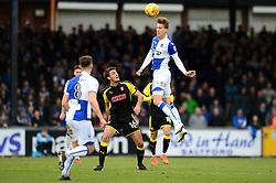 Joe Partington of Bristol Rovers challenges for the header - Mandatory by-line: Dougie Allward/JMP - 02/12/2017 - FOOTBALL - Memorial Stadium - Bristol, England - Bristol Rovers v Rotherham United - Sky Bet League One