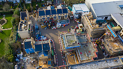 VIDEO AVAILABLE https://we.tl/t-Azi6ue81on © Licensed to London News Pictures. 15/01/2020. Elstree, UK. An aerial view shows construction of the new high definition EastEnders Set at the BBC Elstree studios in Hertfordshire. Photo credit: LNP