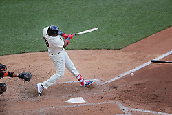 July 8, 2017 - Minneapolis, MN, USA - The Minnesota Twins' Kennys Vargas breaks his bat on a fifth-inning ground out against the Baltimore Orioles at Target Field in Minneapolis on Saturday, July 8, 2017. The Orioles won, 5-1. (Credit Image: © Shari L. Gross/TNS via ZUMA Wire)