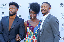 "Jan 4th, 2019. Palm Springs, ca. USA. Black Panther Director, RYAN COOGLER and Black Panther stars, Actors, DANAI GURIRA, and  MICHAEL B. JORDAN at the ""Variety Creative Impact Awards"" held during the 30th Palm Springs International Film Festival. The Awards took place at the Parker Hotel. Photo by Dane Andrew c.2019 / Total Entertainment News. TEN.  408 666-8388  TenPressMedia@gmail.com"