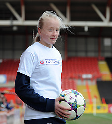 Ball girl at Ashton Gate for UEFA Women's Champions League match between Bristol Academy Women and FFC Frankfurt - Photo mandatory by-line: Paul Knight/JMP - Mobile: 07966 386802 - 21/03/2015 - SPORT - Football - Bristol - Ashton Gate Stadium - Bristol Academy v FFC Frankfurt - UEFA Women's Champions League
