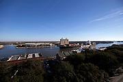 SAVANNAH, GA - FEBRUARY 6, 2015: The NYK vessel NYK Delphinus makes its way up river to the Georgia Ports Authority Port of Savannah, Friday, Feb, 6, 2015, in Savannah, Ga. (Photo by Stephen B. Morton)