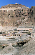 Mortuary temple of Queen Hatshepsut (?1540-?1481) 18th dynasty queen of Egypt, daughter of Tuthmosis I, at Deir-el-Bahri. Portrait formalt
