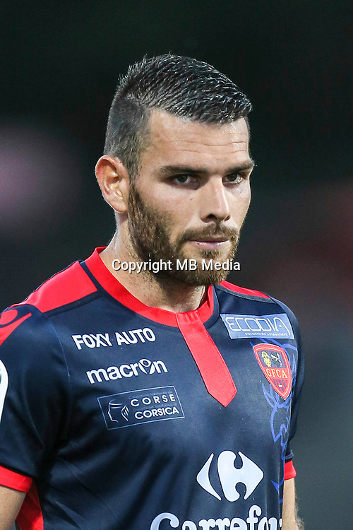 Yoann Court of Ajaccio during the Ligue 2 match between Stade Lavallois Laval and Gazelec Ajaccio on August 19, 2016 in Laval, France. (Photo by Vincent Michel/Icon Sport)