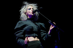 """© Licensed to London News Pictures. 29/05/2014. Barcelona, Spain.   St Vincent performing live at Primavera Sound Festival .   In this picture - Anne Erin """"Annie"""" Clark better.  Anne, known by her stage name St. Vincent, is an American musician, singer-songwriter, and multi-instrumentalist. She began her music career as a member of The Polyphonic Spree and was also part of Sufjan Stevens' touring band before forming her own band in 2006.   Primavera Sound, or simply Primavera, is an annual music festival that takes place in Barcelona, Spain in late May/June within the Parc del Fòrum leisure site. Photo credit : Richard Isaac/LNP"""
