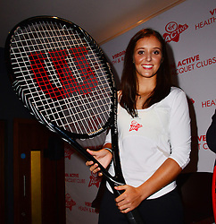Laura Robson press conference / photocall.  British tennis star Laura Robson becomes Virgin Active's first tennis ambassador.  Sir Richard Branson attend as Olympic tennis star is announced the face of Virgin Active's Junior Tennis Academy. Virgin Active Chiswick Riverside, London, United Kingdom, London, United Kingdom, February 26, 2013. Photo by Nils Jorgensen / i-Images.