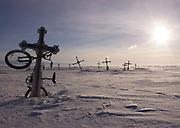 Arctic scene, from the Yukon River delta, Bering Sea area, Alaska.