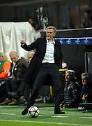 Inter Milan coach Jose Mourinho shows off his skills against Dynamo Kiev, 21st Oct 2009.