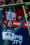 Anders Bardal of Norway celebrates his victory during FIS World Cup Ski Jumping in Wisla...Poland, Wisla, January 09, 2013...Picture also available in RAW (NEF) or TIFF format on special request...For editorial use only. Any commercial or promotional use requires permission...Photo by © Adam Nurkiewicz / Mediasport