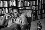 """Pradeep Jeganathan at his home in Havelock Town. Colombo.<br /> """"Pradeep Jeganathan was born and raised in Colombo, Sri Lanka, where he lives and works, engaged in a variety of intellectual, aesthetic and political projects."""" from www.pjeganathan.org"""