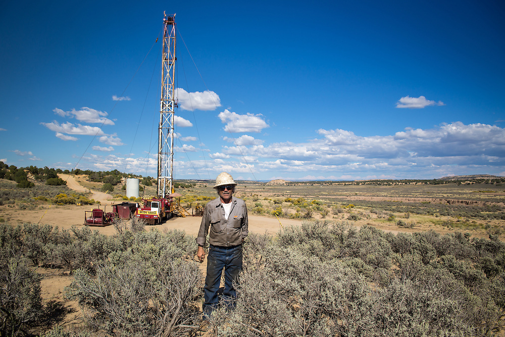 Driling rig on federal land in the San Juan Basin in Northwestern New Mexico where fracking is booming.