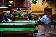 The pool hall at McMenamin's Olympic Club Pub in Centralia, Washington State.