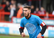 Crawley Town Defender Tom Dallison, (on loan from Brighton & Hove Albion), before the Sky Bet League 2 match between Crawley Town and Plymouth Argyle at the Checkatrade.com Stadium, Crawley, England on 20 February 2016. Photo by David Charbit.