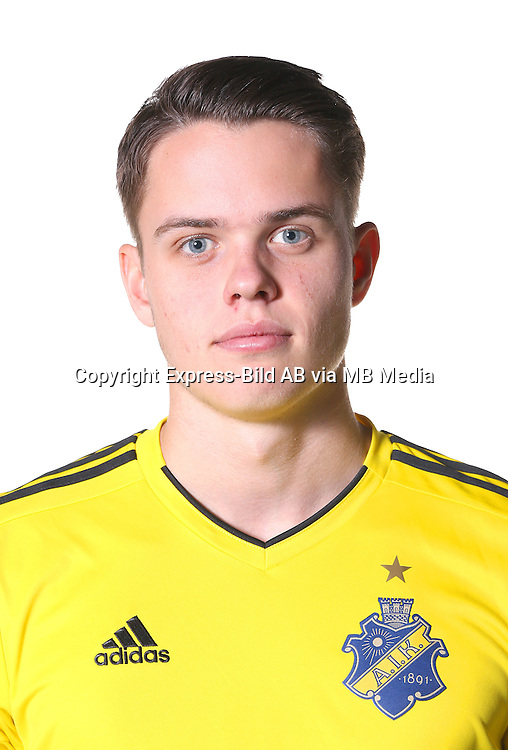 Oscar Linn&eacute;r<br /> Halvfigur<br /> @Leverans<br /> Allsvenskan 2016<br /> Fotboll