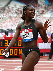 July 22, 2018 - London, United Kingdom - Dina Asher-Smith of Great Britain and Northern Ireland after the 200m Women.during the Muller Anniversary Games Day One at The London Stadium on July 22, 2018 in London, England. (Credit Image: © Action Foto Sport/NurPhoto via ZUMA Press)