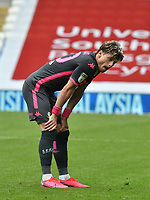 Football - 2019 / 2020 Sky Bet EFL Championship - Cardiff City vs. Leeds United<br /> <br /> Ezgjan Alioski of Leeds United a title chasing Leeds players look despondent after the final whistle in a match they lost 2-0, played in an empty stadium duet o Covid 19 emergency powers restrictions, at Cardiff City Stadium.<br /> <br /> COLORSPORT/WINSTON BYNORTH