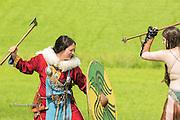 Freyja and Kalygulina at the Dragonslayer fantasy shoot.