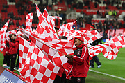 Stoke cheerleaders during the Premier League match between Stoke City and Manchester City at the Bet365 Stadium, Stoke-on-Trent, England on 12 March 2018. Picture by Graham Holt.
