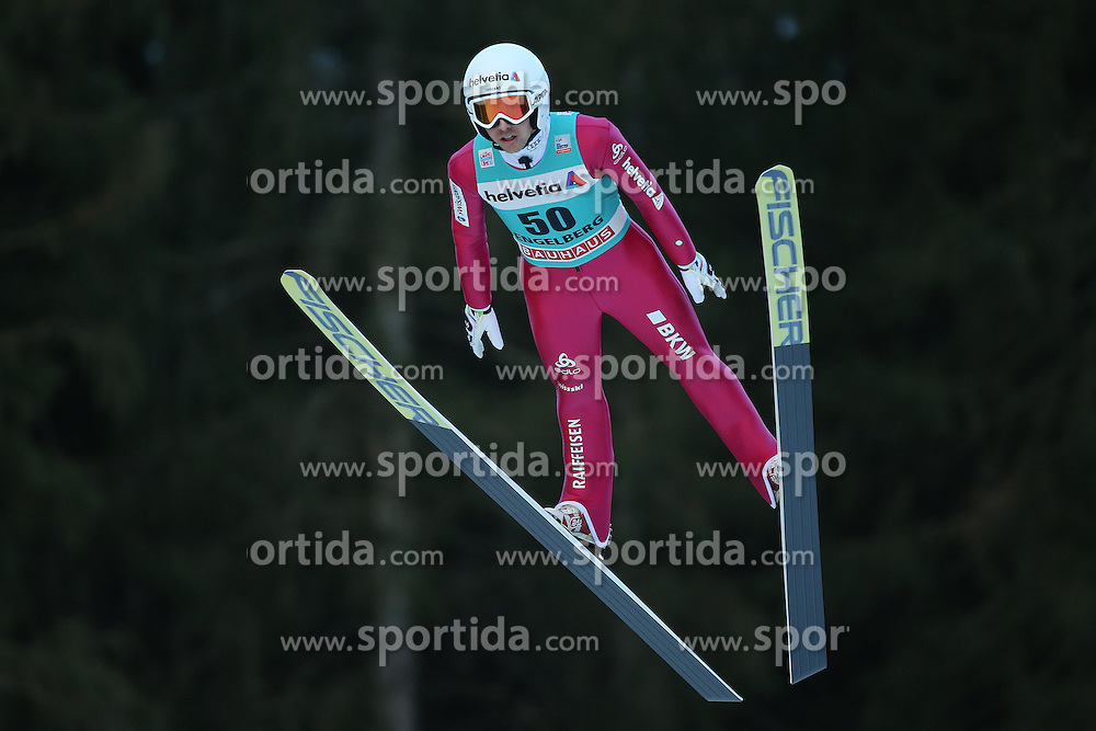 20.12.2015, Gross Titlis Schanze, Engelberg, SUI, FIS Weltcup Ski Sprung, Engelberg, im Bild Simon Ammann (SUI) // during mens FIS Ski Jumping World Cup at the Gross Titlis Schanze in Engelberg, Switzerland on 2015/12/20. EXPA Pictures &copy; 2015, PhotoCredit: EXPA/ Freshfocus/ Claude Diderich<br /> <br /> *****ATTENTION - for AUT, SLO, CRO, SRB, BIH, MAZ only*****