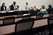 The House Juvenile Justice and Family Issues Committee meet to discuss a piece of legislation that would raise from 17 to 18 the age an offender automatically enters the adult justice system in Dallas, Texas on September 7, 2016. (Cooper Neill for The Texas Tribune)
