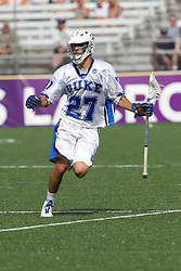 31 May 2010: Duke Blue Devils midfielder Jake Tripucka (27) in a 5-6 win over the Notre Dame Fighting Irish for the NCAA Lacrosse Championship at M&T Bank Stadium in Baltimore, MD.