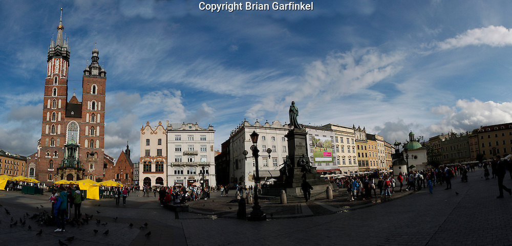 A Panorama of the main square in Krakow, Poland on Monday July 4th 2011.  (Photo by Brian Garfinkel)