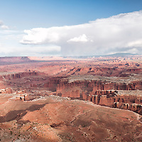 A beautiful view from the overlook at Grand View Point, part of the Island in the Sky section of Canyonlands National Park, Moab, Utah