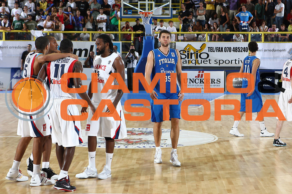 DESCRIZIONE : Cagliari Eurobasket Men 2009 Additional Qualifying Round Italia Francia<br /> GIOCATORE : Andrea Bargnani<br /> SQUADRA : Francia France Italia Italy<br /> EVENTO : Eurobasket Men 2009 Additional Qualifying Round <br /> GARA : Italia Francia Italy France<br /> DATA : 05/08/2009 <br /> CATEGORIA : delusione<br /> SPORT : Pallacanestro <br /> AUTORE : Agenzia Ciamillo-Castoria/C.De Massis