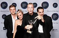 Wolf Alice with their Mercury Prize award