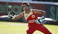 The son of the team owner Sid Mallya during the Royal Challengers Bangalore training session held at Kingsmead Stadium in Durban on the 23 September 2010..Photo by: Steve Haag/SPORTZPICS/CLT20.