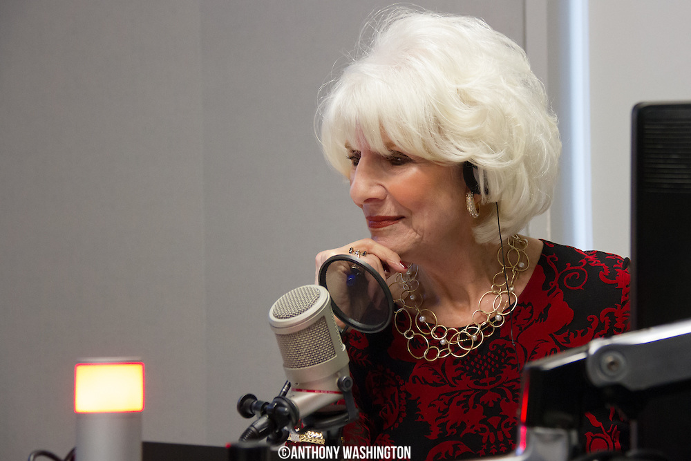 Diane Rehm, host of The Diane Rehm Show, listens to comments from listeners who wanted to thank her for her 37 years on the air during her final show on Friday, December 23, 2017 at WAMU 88.5 in Washington, DC.
