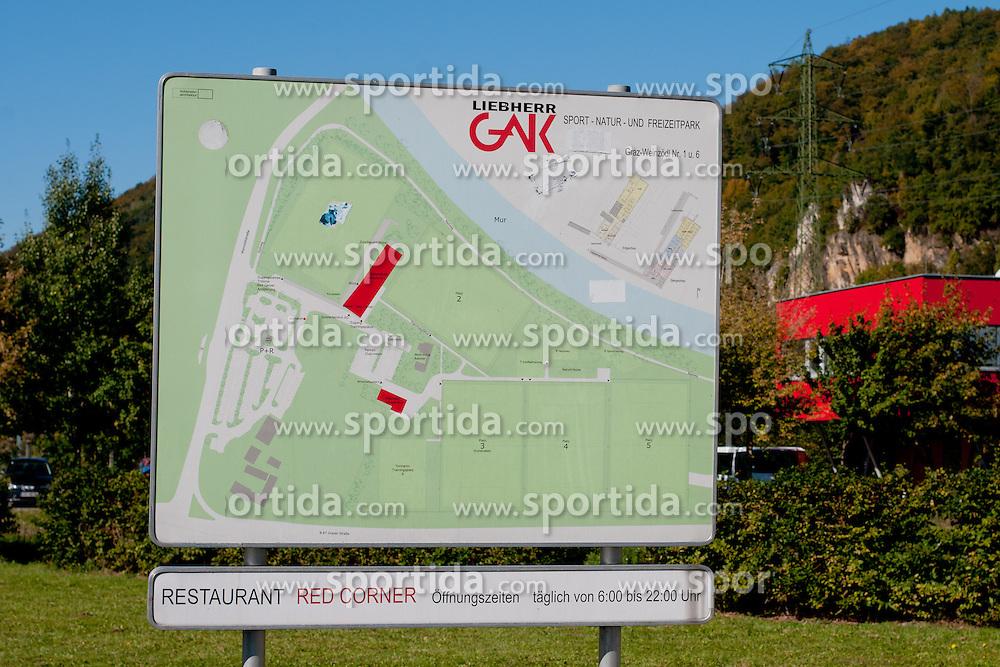 Map of Grazer AK training center, on October 14, 2011 at GAK Training center, Graz, Austria. (Photo By Matic Klansek Velej / Sportida)
