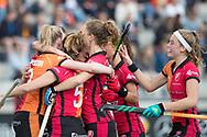 Eindhoven - Oranje Rood - Kampong  Dames, Hoofdklasse Hockey Heren, Seizoen 2017-2018, 15-04-2018, Oranje Rood - Kampong 3-1,  doelpunt Oranje-Rood<br /> <br /> (c) Willem Vernes Fotografie