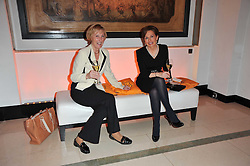 Left to right, PATRICIA VAZ and JAN FLETCHER at the 38th Veuve Clicquot Business Woman Award held at Claridge's, Brook Street, London W1 on 28th March 2011.