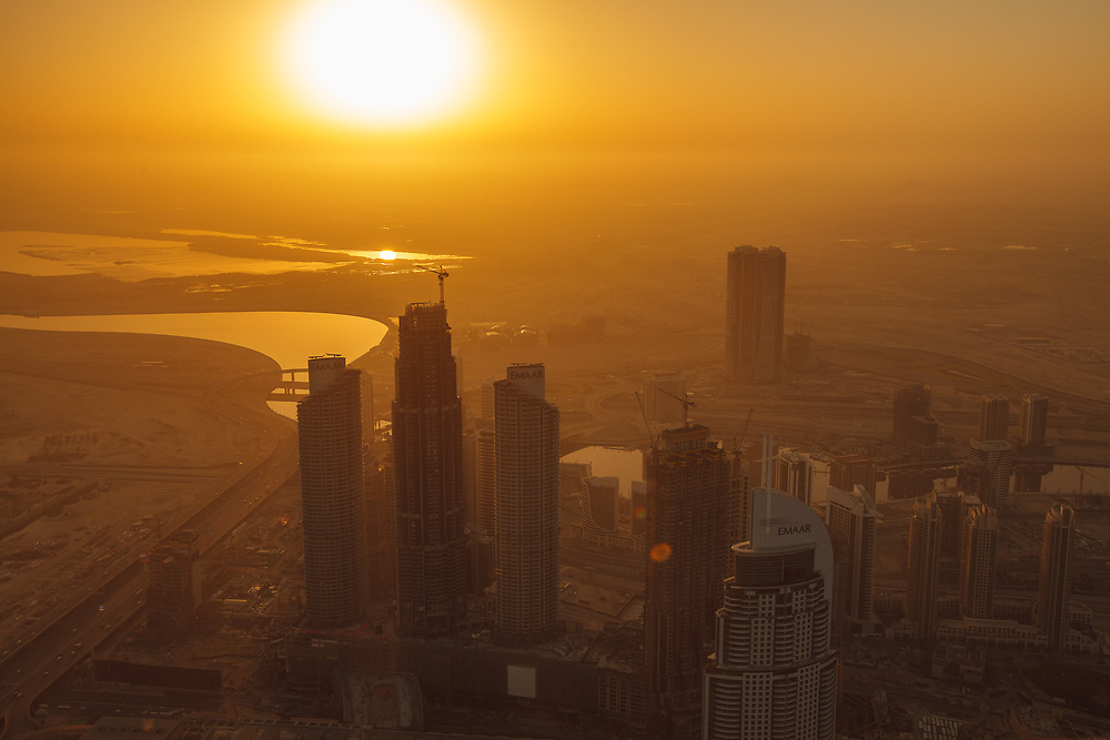 Sunrise view from Burj Khalifa