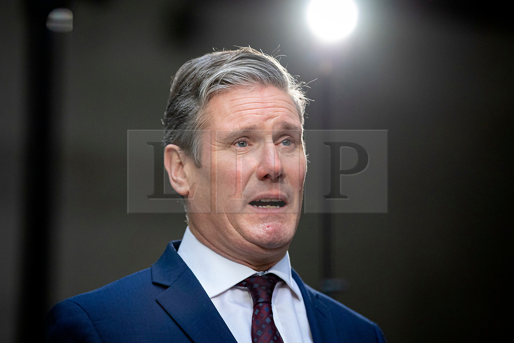 © Licensed to London News Pictures. 05/01/2020. London, UK. Shadow Brexit Secretary and Labour Party leadership contender Sir Keir Starmer leaves BBC Broadcasting House.  Photo credit: Rob Pinney/LNP