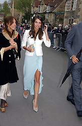MARINA HANBURY at the wedding of Laura Parker Bowles to Harry Lopes held at Lacock, Wiltshire on 6th May 2006.<br />