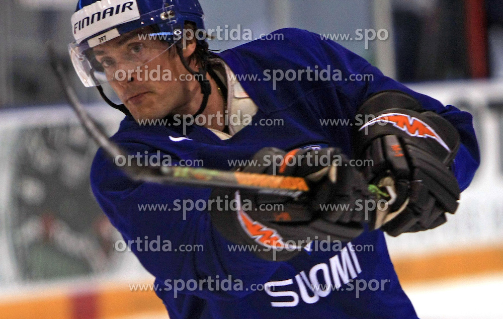 Teemu Selanne at practice of Finland national team at Hockey IIHF WC 2008 in Halifax,  on May 04, 2008 in Forum Centre, Halifax, Nova Scotia, Canada.  (Photo by Vid Ponikvar / Sportal Images)