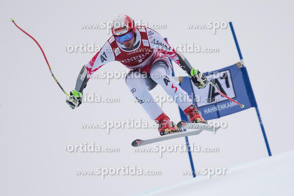 23.01.2015, Streif, Kitzbuehel, AUT, FIS Ski Weltcup, Supercombi Super G, Herren, im Bild Joachim Puchner (AUT) // Joachim Puchner of Austria in action during the men's Super Combined Super-G of Kitzbuehel FIS Ski Alpine World Cup at the Streif Course in Kitzbuehel, Austria on 2015/01/23. EXPA Pictures © 2015, PhotoCredit: EXPA/ Johann Groder